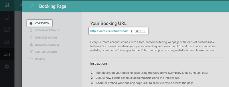Modifying the Booking Page URL