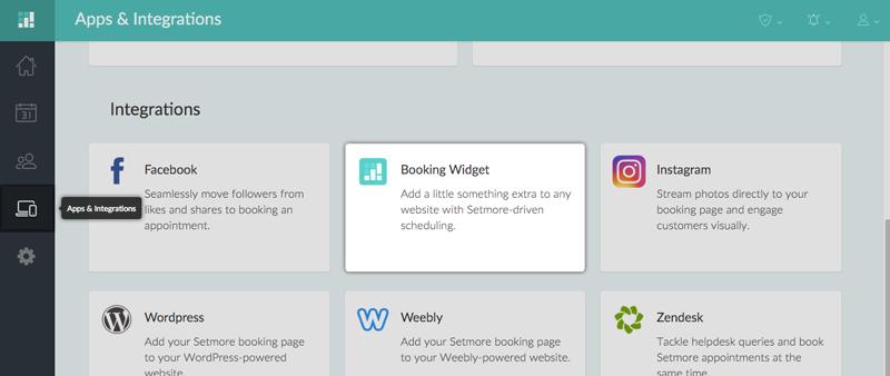 The Booking Widget Integration Card