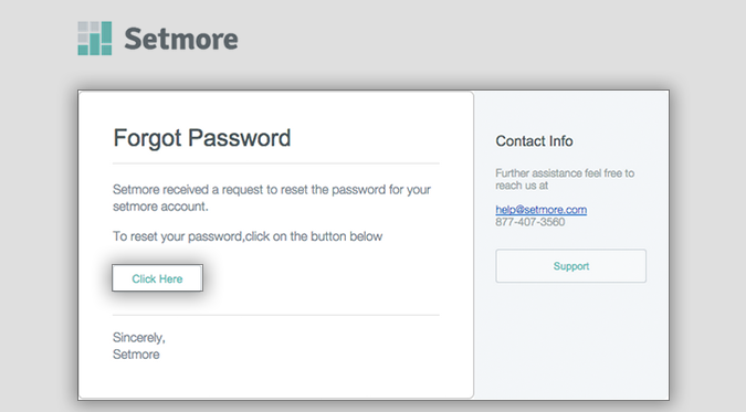 The Reset Password email