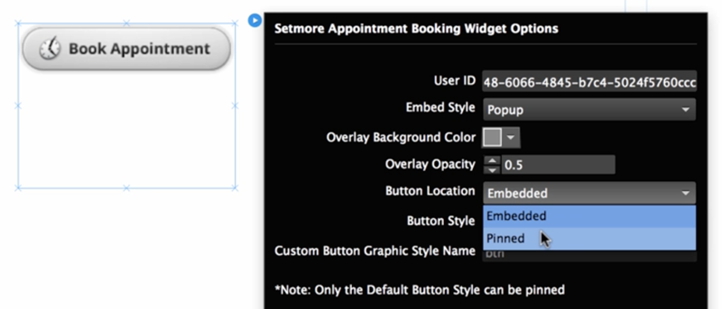 Customizing the Book Appointment button