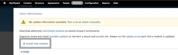Installing new module in Drupal