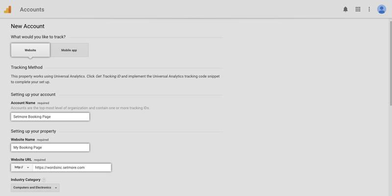 Setting up your Google Analytics account