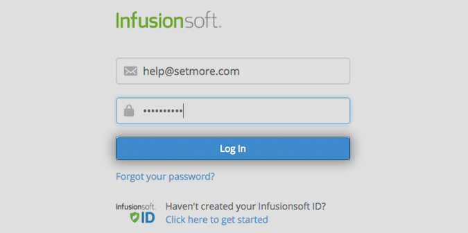 Logging in to Infusionsoft